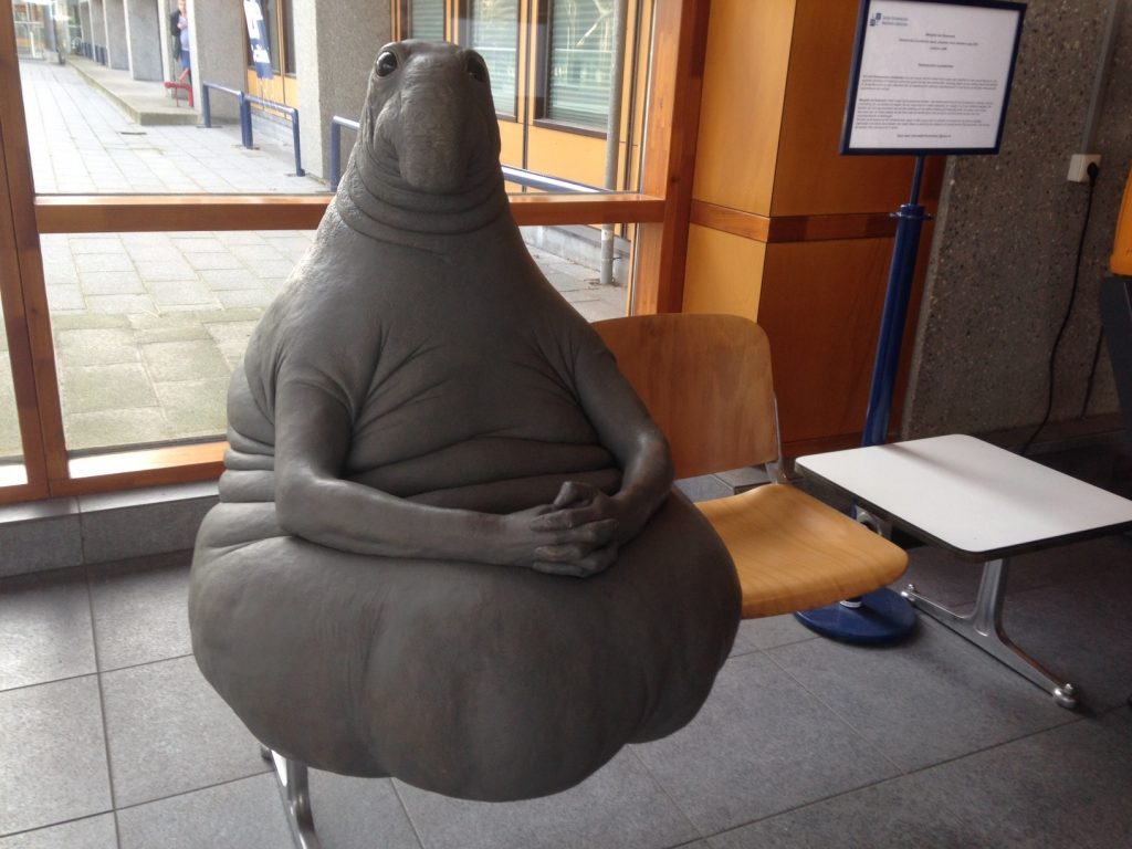 Скульптура Ждун в Лейдене