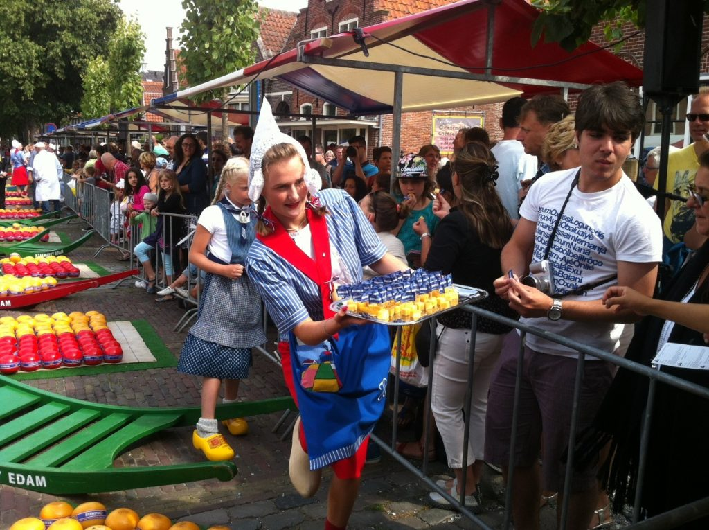 Cheese markets in Edam, Gouda, Alkmaar in 2019