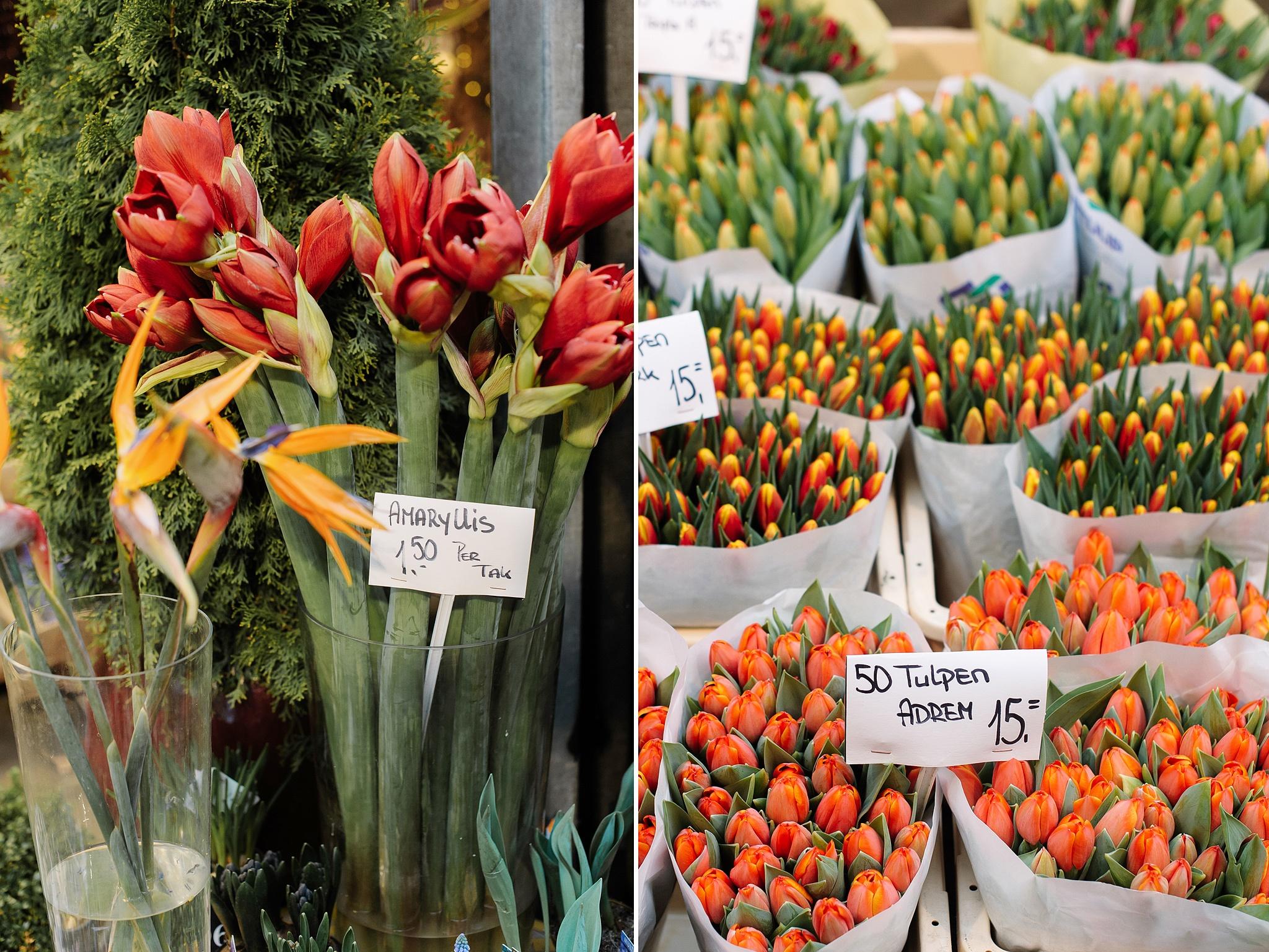 Сколько стоят цветы на Цветочном рынке Амстердама?