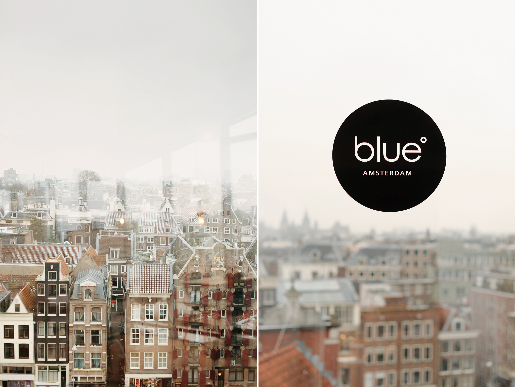 Blue Amsterdam restaurant with a panoramic view