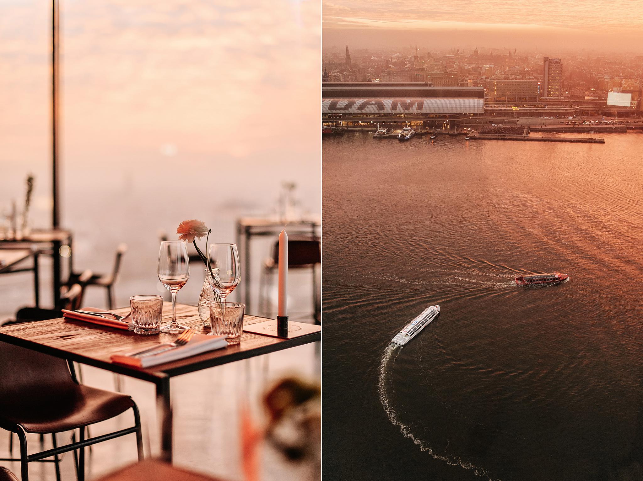 Где пообедать и поужинать с видом на Амстердам?