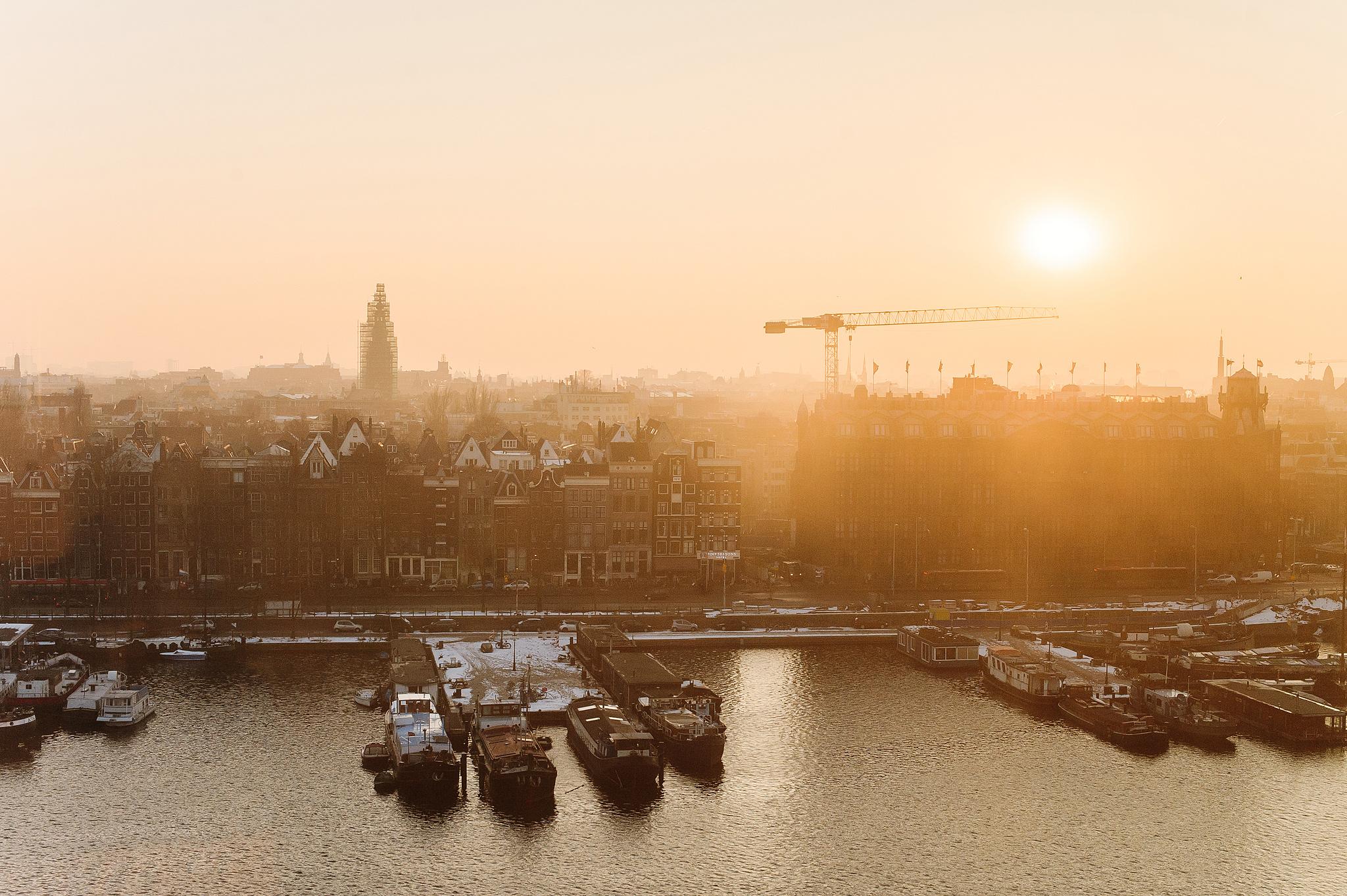 La Place в библиотеке Амстердама, панорамный вид на город