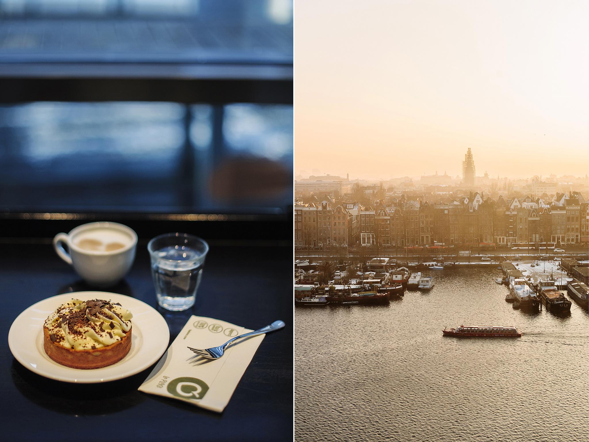La Place панорамный вид на Амстердам