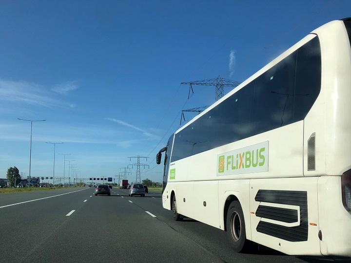 Автобус Фликсбас из Эйндховена в Амстердам