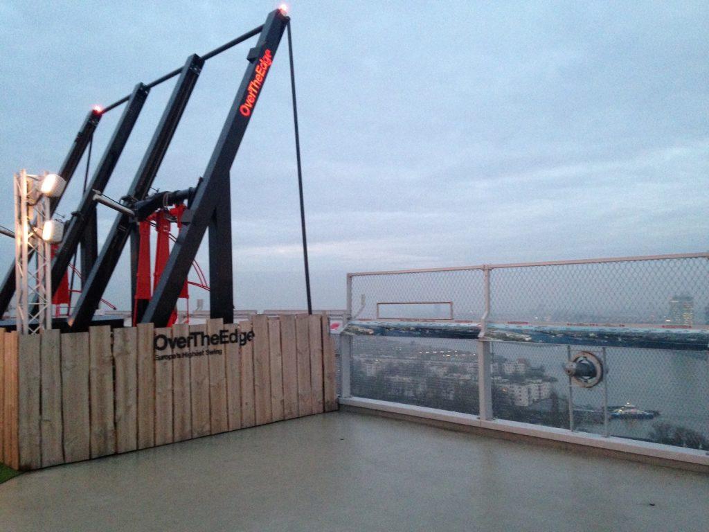 Over the edge, самые высокие качели в Европе в Амстердаме