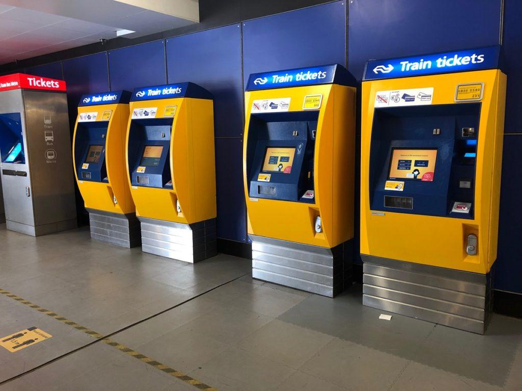 Билеты на поезд в Нидерландах: Желтые автоматы NS
